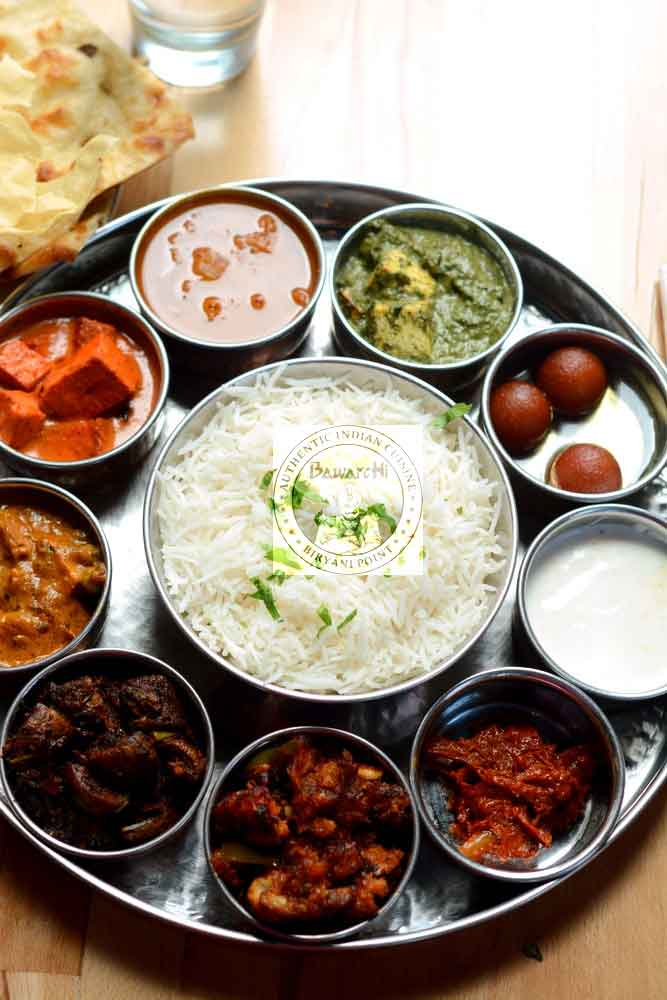 Weekday Thali Lunch - Veg