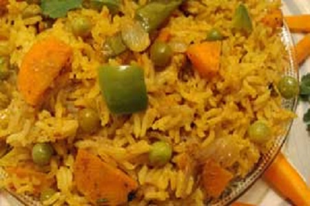 Carrot Peas Rice