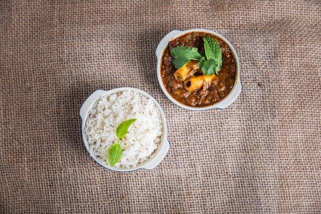 Andhra Gongura Curry (House Specialty) - Goat