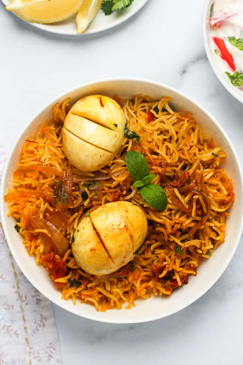 Egg Biryani (Single)