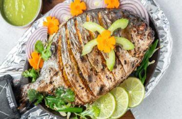 Tandoori Pomfret (Fish) Bawarchi Special