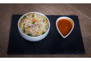 Chicken Schezwan Fried Rice  (BAWARCHI SPECIAL)