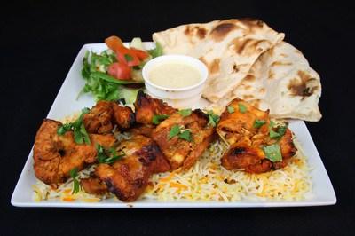 Chicken Tikka Kabob Platter
