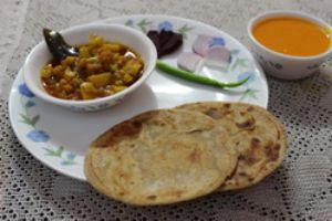 Paratha With Veggie Curry