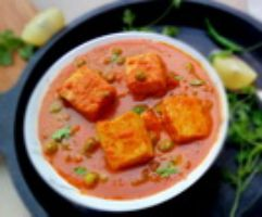MATAR (Green Peas)  PANEER (Indian Cheese cubes)