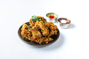 Onion Spinach Pakora