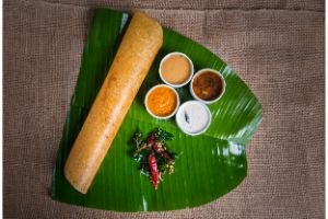 Dosa with Gongura Mutton Fry