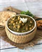 SAAG ( Spinach) CHANNA ( Chickpea)