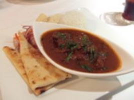 Paratha With Lamb Curry