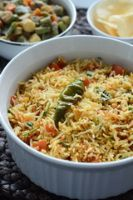 Tomato Rice With Papad