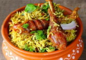 Raju Gari Kodi ( Chicken)  Vepudu Biryani