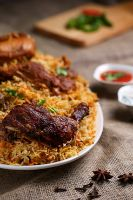 Spicy Chicken Fried Piece Biryani