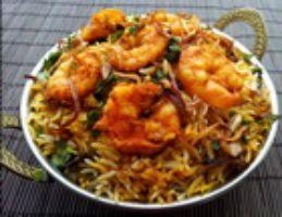 Royyala (Shrimp) Vepudu Biryani
