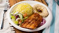 Salmon Kabob Platter