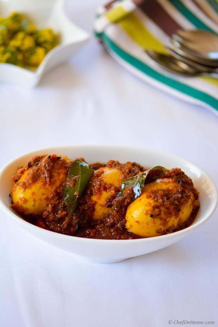 Homestyle Egg Fry - Ulli Karam
