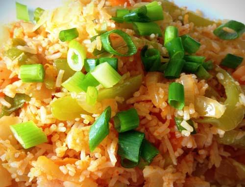 Schezuan Fried Rice (Veg / Egg / Chicken / Shrimp)