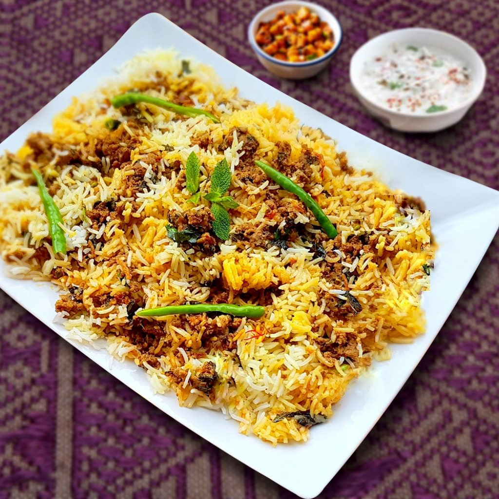 Goat Keema Biryani Family Pack (serve 4-6 persons )