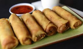 Vegetable Spring Rolls  (**2) (6pc)