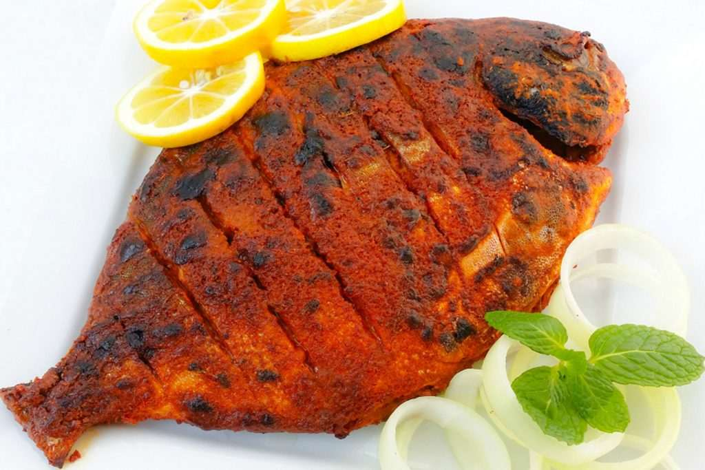 Tandoori Pomfret Fish (New) - Takes 30 to 45 mins to prepare