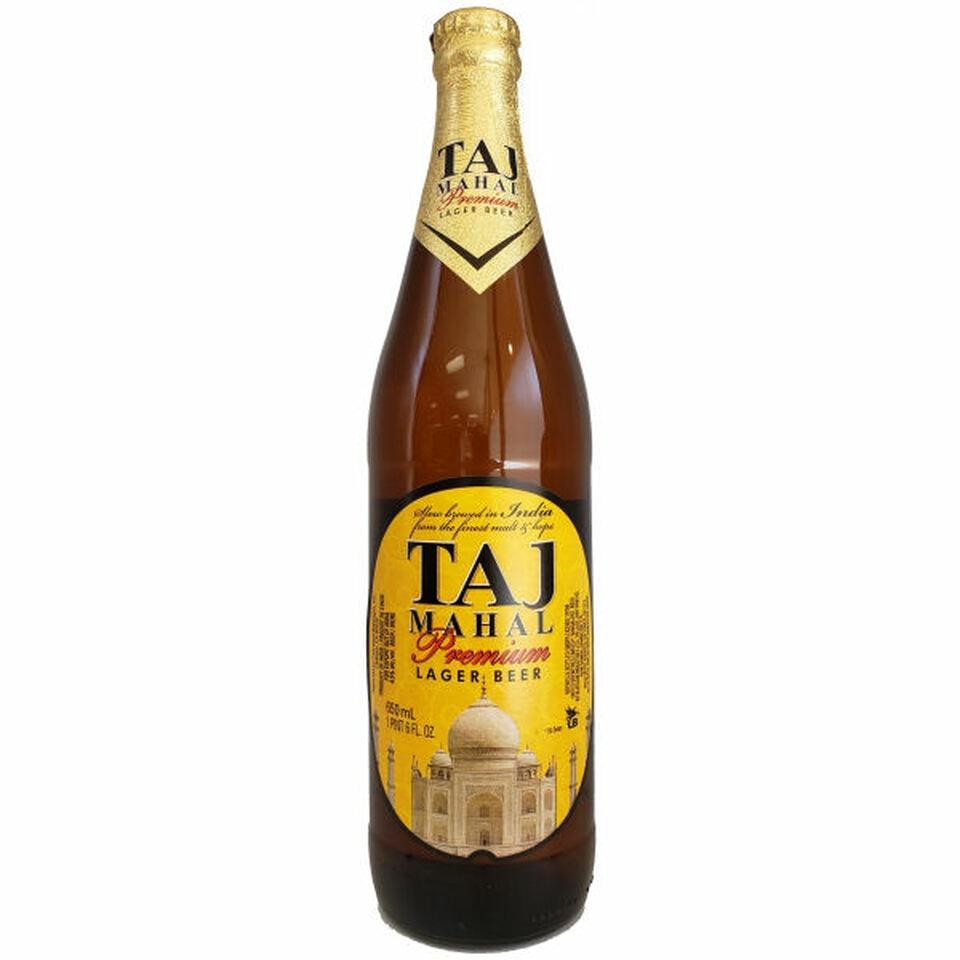Taj Mahal Premium Lager Beer - 22 oz Btl