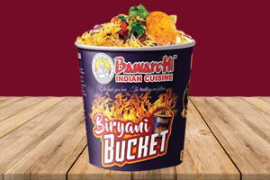 Bucket Kheema Goat Biryani (Serves 4 People)