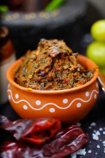 Sorrel Leaves Pickle (Gongura Pachadi)
