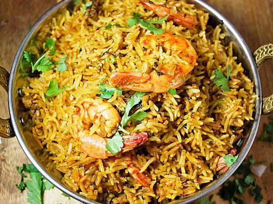 Vijayawada Shrimp Biryani