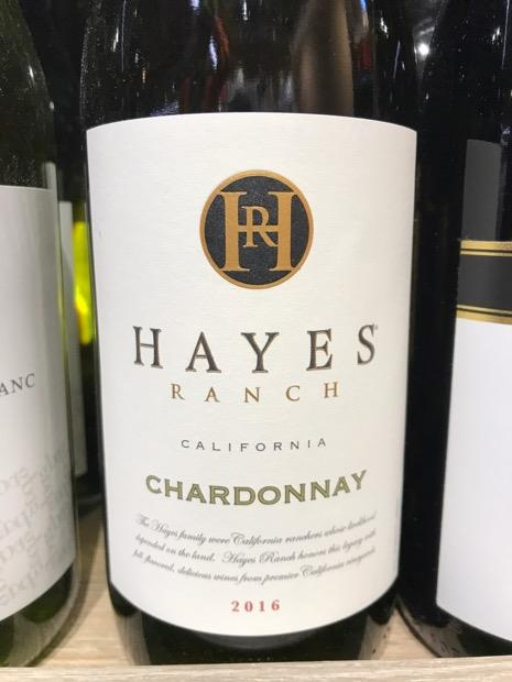 Hayes Ranch Chardonnay Bottle