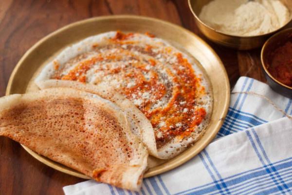 Andhra karam (spicy) masala dosa