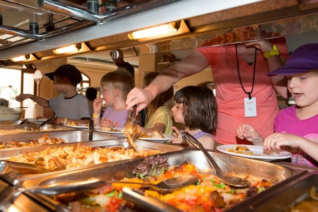 Kids weekend lunch buffet