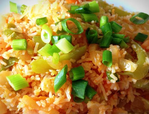Schezwan Rice (Veg / Egg / Chicken / Shrimp)