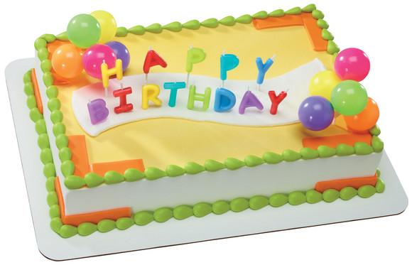 Happy Birthday Neon Candles - 15113