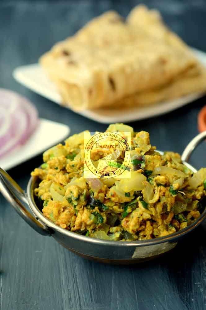 Egg Bhurji and Chapathi L