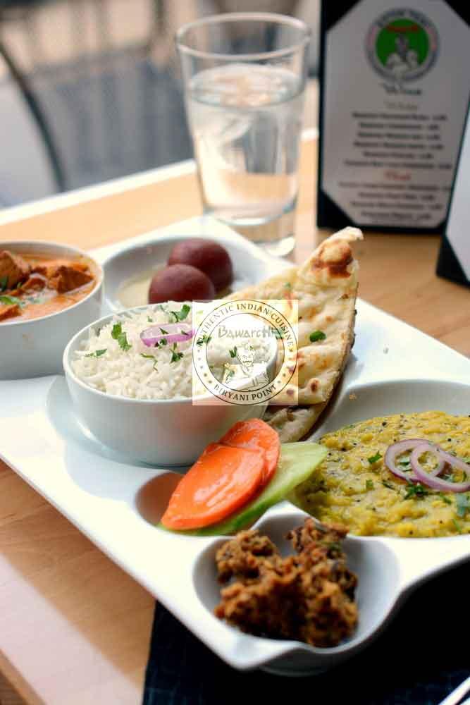Bawarchi Platter (Veg) - 2 Curry Combo