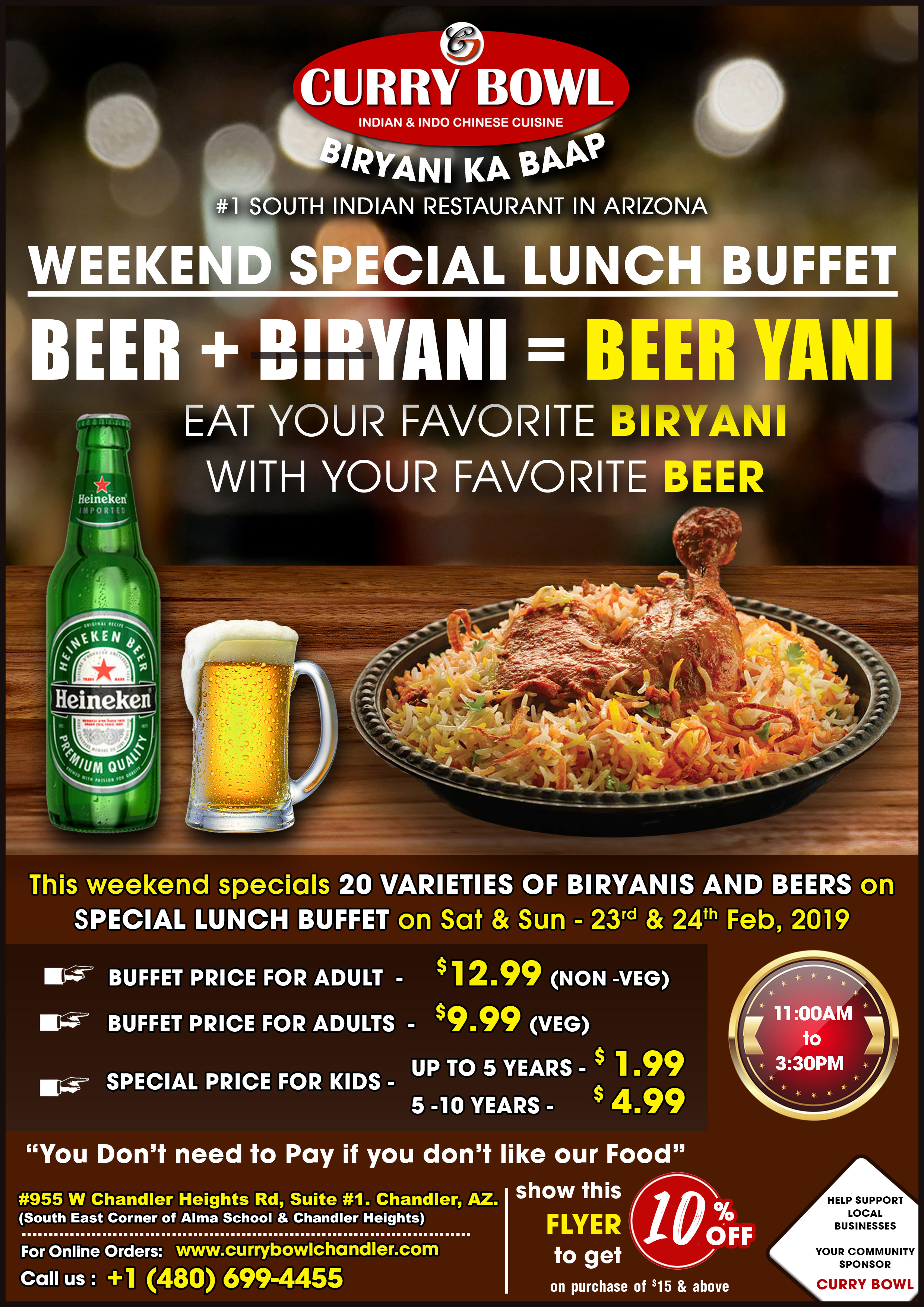 Weekend Special Lunch Buffet