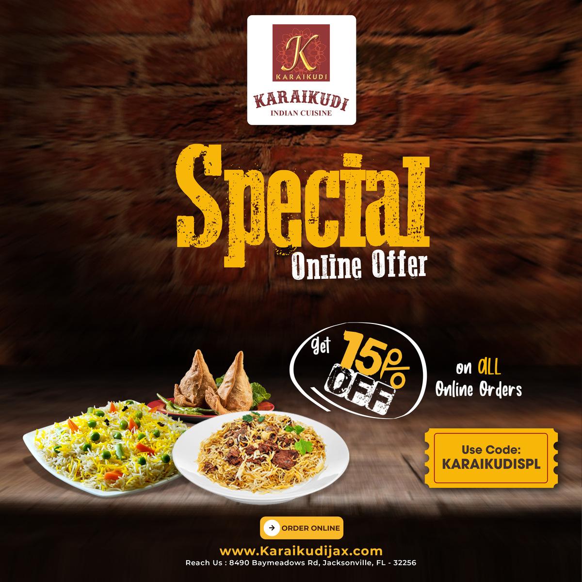 Karaikudi Special Deal! Get 15% Off