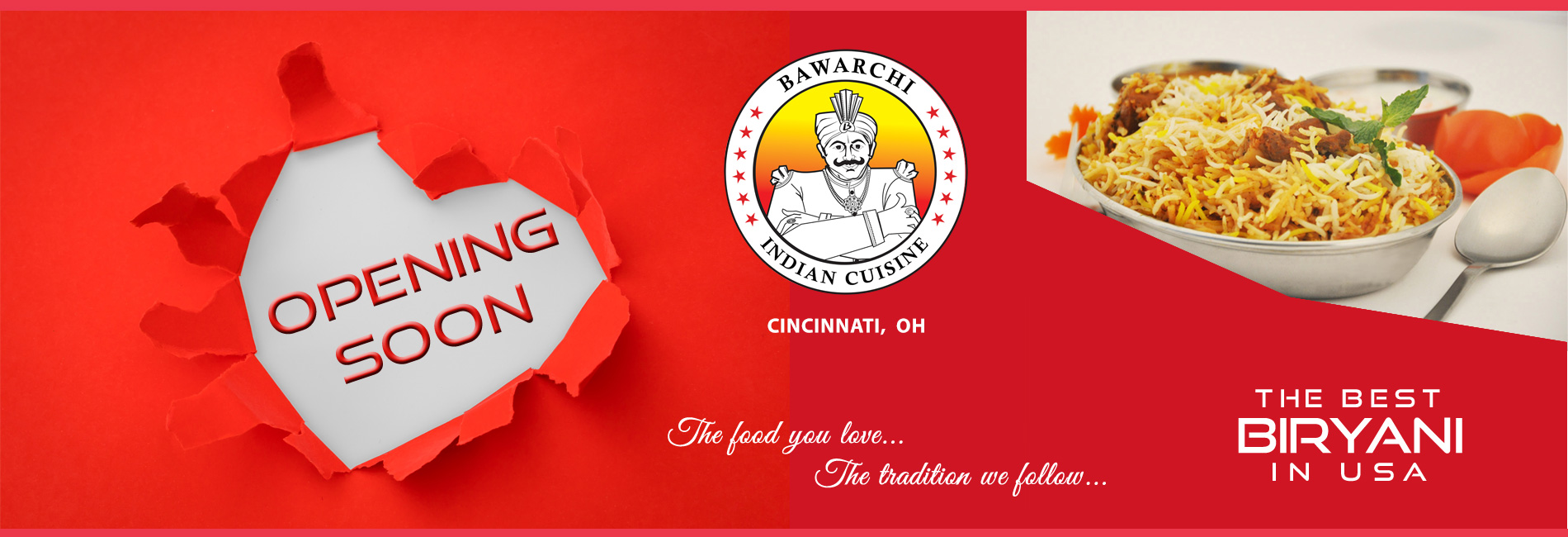 Bawarchi Cleveland - Opening Soon