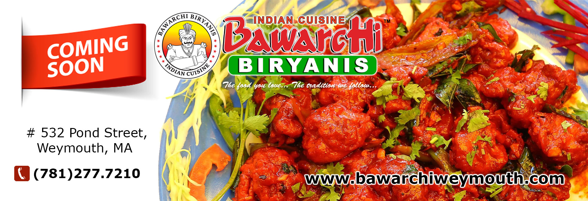 Bawarchi coming soon location - Weymouth, MA