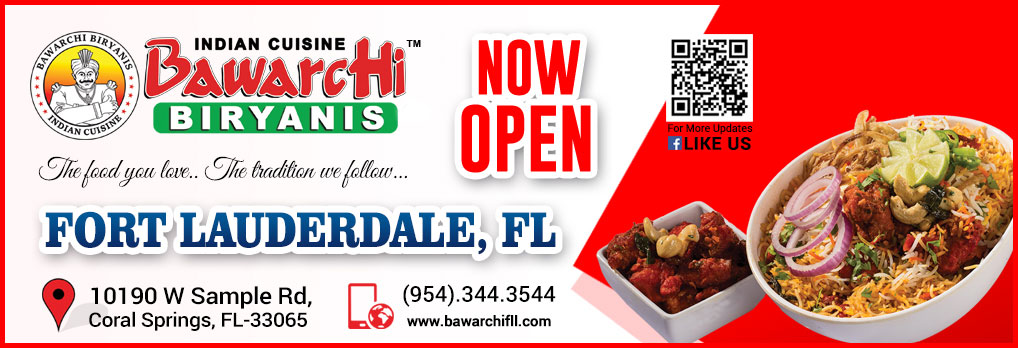 Bawarchi Fort Lauderdale, FL - Now open...
