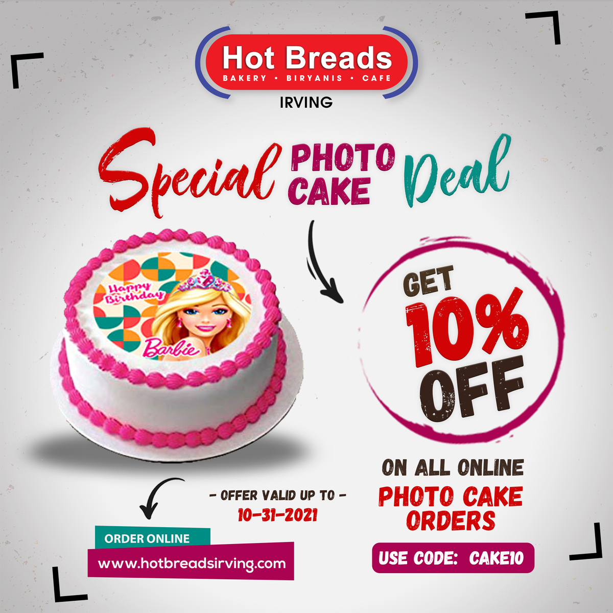 Special Photo Cake Deal