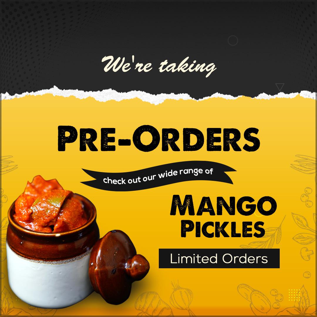Pre Order mango pop up notification