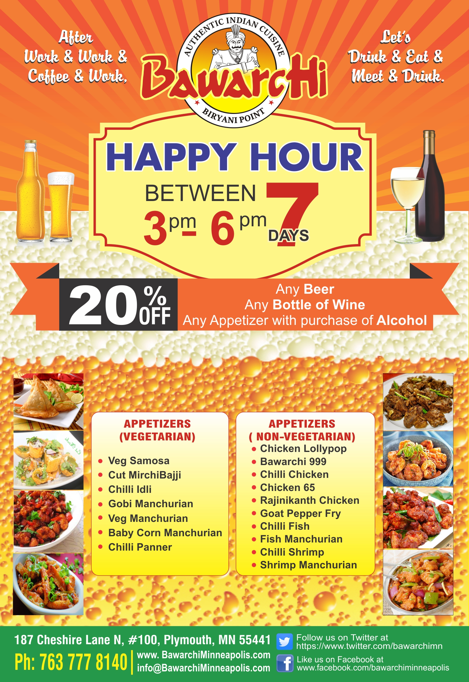 Bawarchi Minneapolis Happy Hours